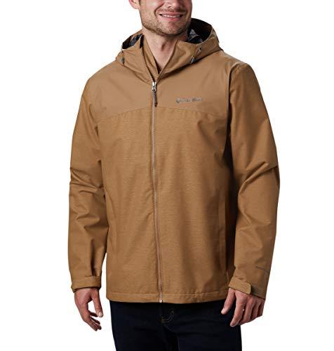Columbia Men's Ridge Gates Rain Jacket, Delta/Delta Denim, 5X