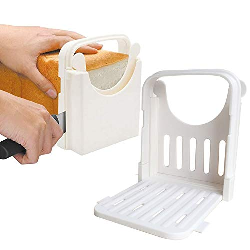 Fastwolf Bread Slicer,Adjustable Toast Slicer Toast Cutting Guide for Homemade Bread,Foldable Bread Toast Slicer Bagel Loaf Slicer Sandwich Maker Toast Slicing Machine with 5 Slice Thicknesses