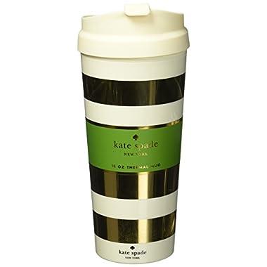 kate spade new york Thermal Mug, Gold Stripe