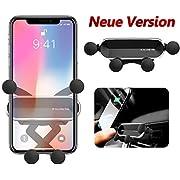 BellFan Handyhalterung für Auto, Schwerkraft Auto Handyhalterung Air Vent Universal-Kfz-Handyhalter kompatibel für iPhone XS MAX/XS/XR, Galaxy S10/S10+ (für 4,7'' - 6,5'') (Silber)