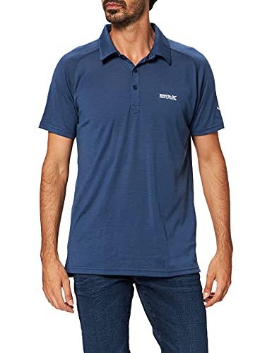 Kalter Polo sport manches courtes, respirant et sèche rapidement - Homme - Bleu (Dark Denim) - Small