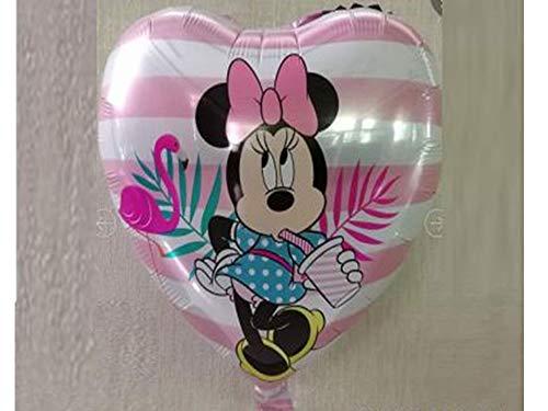 artballoon Globo con forma de corazón Minnie Disney de 18 pulgadas para fiestas de cumpleaños para niñas