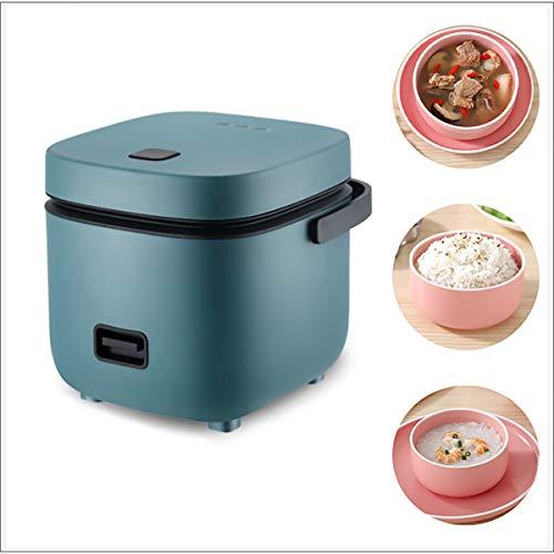 XER Reiskocher Mini Reiskocher Steamer (1,2l / 200W / 220V) Warmhaltefunktion, von Premium-Qualität Inner-Topf für das Kochen Reis, Porridge, nahrhafte Eier,Grün