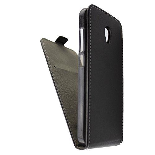 caseroxx Flip Cover für Alcatel U5, Tasche (Flip Cover in schwarz)