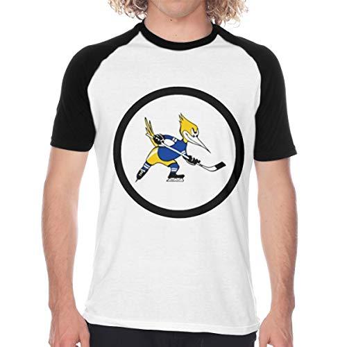 Phoenix Roadrunners Men Short Sleeve Baseball T-Shirts Printed Casual Raglan Sleeves Tee Large Black