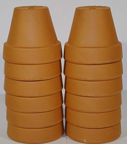 Deroma Mini Sun Vaso in terracotta per coltivazione piccole piante o per lavoretti di bricolage disponibili in varie misure e confezioni (12, 9 cm)