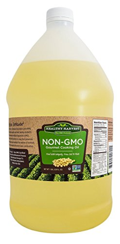 Healthy Harvest Non-GMO Gourmet Soybean Cooking Oil - Healthy Cooking Oil for Cooking, Baking, Frying & More - Naturally Processed to Retain Natural Antioxidants {One Gallon - 128 oz.}