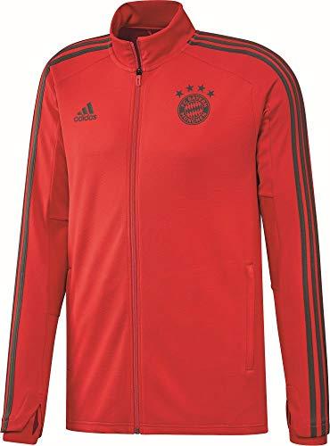 adidas Herren Fußball FC Bayern München Trainingsjacke FCB Jacke rot grau Gr S