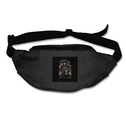 HKUTKUFGU Bauchtasche für Damen und Herren, Sensenmann mit Sanduhr-Tasche, Reisetasche, Bauchtasche für Laufen, Radfahren, Wandern, Workout