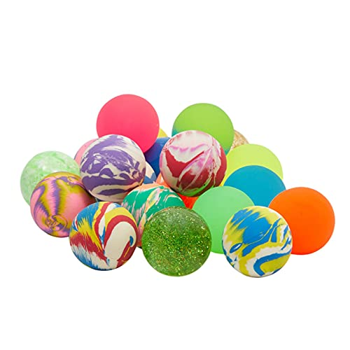 Juvale 50 Count Bulk Bouncy Ball Party Favors for Kids Birthday Party (Multicolor, 1.5 in)