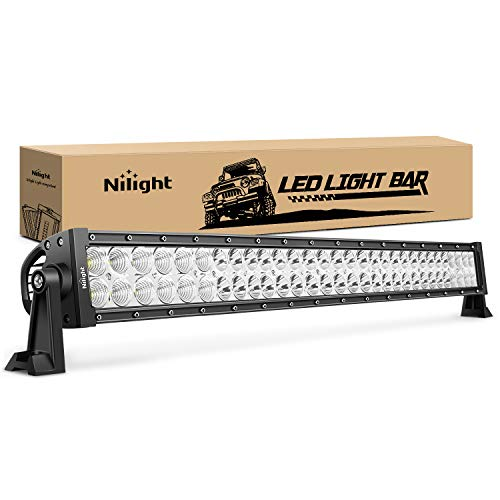 LED Light Bar Nilight 32 Inch 180W Spot Flood Combo LED Driving Lamp Off Road Lights LED Work Light Boat Jeep Lamp,2 Years Warranty