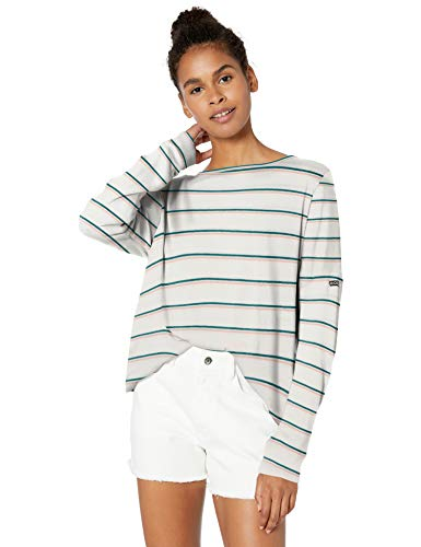 Roxy Damen Holiday Everyday Cozy Top Sweatshirt, Everglade Bali Stripes Horizon, X-Large
