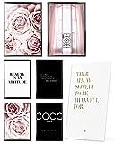 Heimlich Cuadros Decorativos - SIN Marcos -Decoración Colgante para Paredes de Sala, Dormitorios y Cocina - Arte Mural - 2 x A3 & 4 x A4-30x42 & 21x30 | » Coco Pink Rosen «