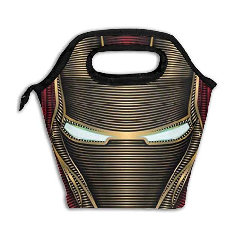Insulated Lunch Bag Iron Man Printed, Thermal Or Refrigerated Reusable Lunch Tote For Work School Picnic