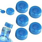 WINBOB 55mm Non-Spill Bottle Caps Water Dispensers Probes Drinking Water Bottle Screw on Cap Replacement Anti Splash Lids ,Leak Free Water Jug Cap,5PCS