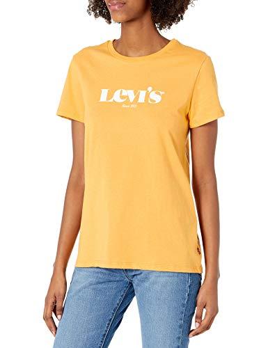 Levi's Camiseta con logotipo perfecto para mujer (estándar y Plus) - amarillo - X-Large