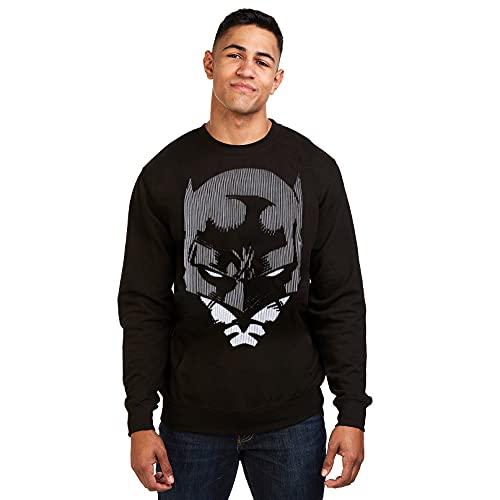 DC Comics Batman Lines Camiseta, Negro, XL para Hombre