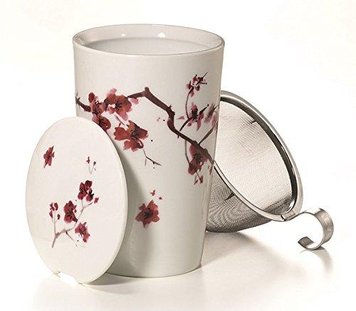 Taza de té de cerezo
