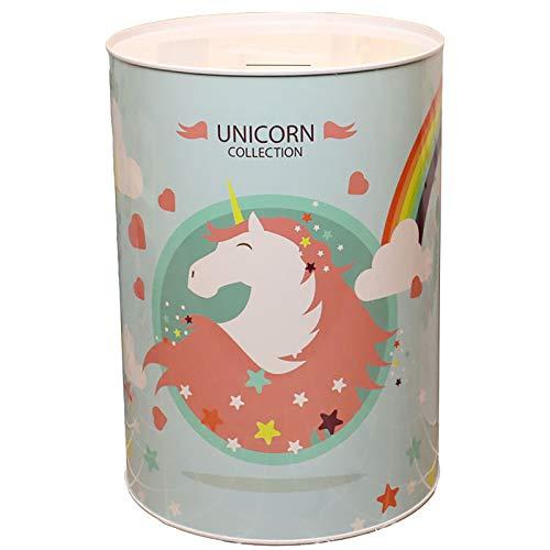 CDMA Banco De Dinero De Gran Capacidad, Dibujos Animados Unicorny Children Toy Tin Money Bank, Hogar De Almacenamiento De Monedas para Adultos 0428C(Size:22 * 15cm,Color:A)