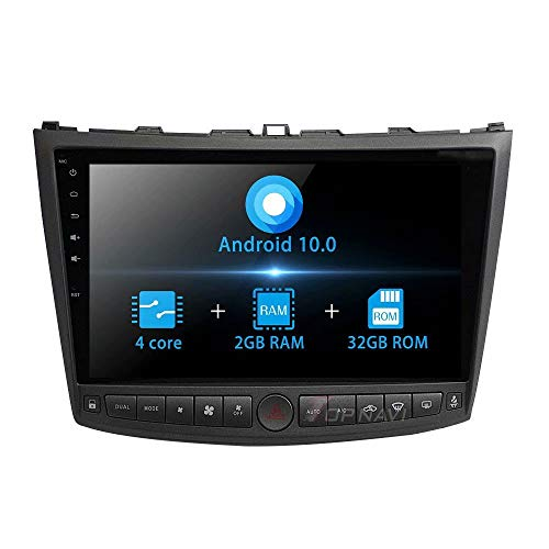 TOPNAVI Android 10.0 Head Unit for Lexus IS350 IS250 2005 2006 2007 2008 2009 2010 2011 Auto Radio Stereo GPS Navigation 10.1Inch Quad Core 2GB RAM WIFI 4G RDS