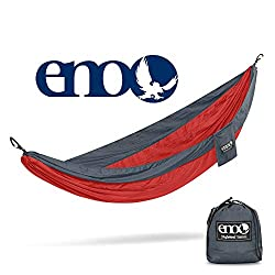 ENO, Eagles Nest Outfitters SingleNest Lightweight Camping Hammock, Red/Charcoal