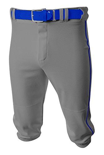 A4 Mens Baseball Knicker Pant, 3XL, Grey/Royal