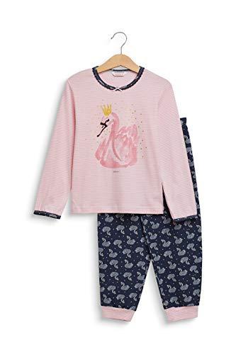 ESPRIT Mädchen JAKY MG Pyjama Zweiteiliger Schlafanzug, Rosa (Old Pink 680), 140 (Herstellergröße: 140/146)