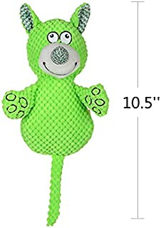 Toy Dog, Plush Sound Elephant Dog Toy, Portable Dog Toys for Indoor and Outdoor Healthy molars 3 (Color : Green, Size : On...