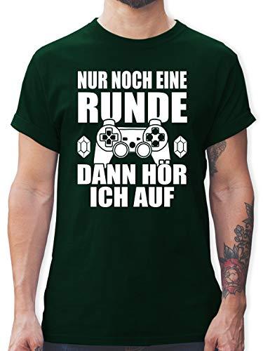 Nerds & Geeks - Nur noch eine Runde - XL - Dunkelgrün - t Shirt Nerd - L190 - Tshirt Herren und Männer T-Shirts