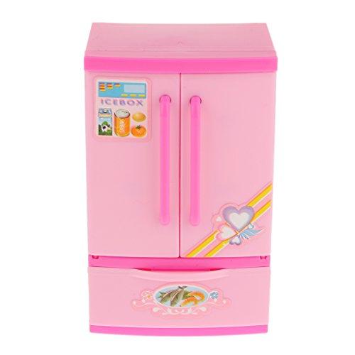 Fenteer Batteriebetrieben Kühlschrank Küchen Spielzeug, Größe: 7,5 x 5,5 x 11,5 cm