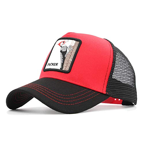 QQYZ Gorra De Béisbol para Hombre Summer Sun-Shielded Malla Sombrero Personalidad Moda Punta Marea Ajustable Pájaro Carpintero Pecker