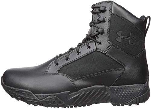 Under Armour Men s Stellar Tac Waterproof Military and Tactical Boot Black 001 Black 12 product image