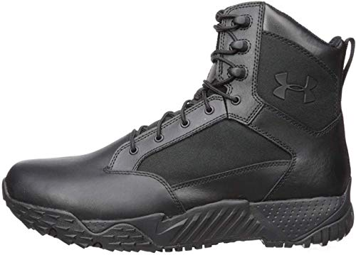 Under Armour Men's Stellar Tac Waterproof Military and Tactical Boot, Black (001)/Black, 11.5