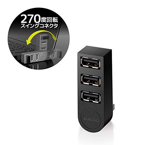 ELECOM(エレコム)『機能主義USBハブ直挿し3ポート(U2H-TZ325BX)』