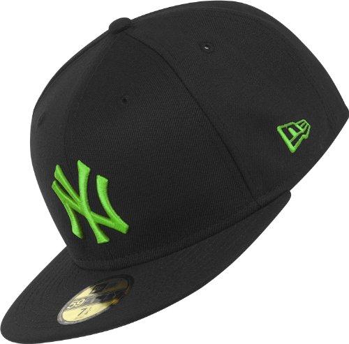 New Era casquette à languette ajustable NY Yankees saisonnière Basics 6 7/8 Noir/vert citron