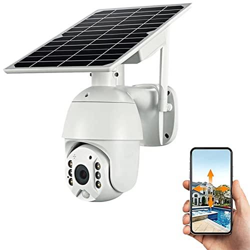 4g lte Sistema de cámaras de seguridad for exteriores Pan Tilt Solar Batería solar Cámara alimentada, Visión nocturna de Starlight, Audio de 2 vías, Pir Detección de movimiento, sin wifi, sin cables,