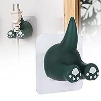 家族や友人のためのマットガラスセラミックタイル大理石のための動物のテールフック、ファッションと良いユーティリティフック(Dinosaur Green)