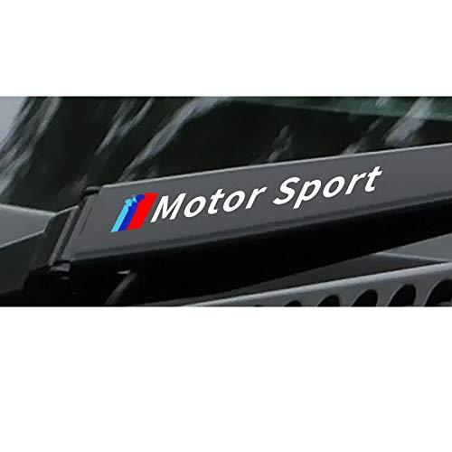 SLONGK 4PCS Auto Fensterwischer Aufkleber, Für BMW E46 E90 E60 E39 E36 E87 E92 E91 E34 F30 E10 F20 F30 G30 X6 X5 X1 X3 Auto Tuning Zubehör