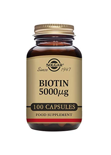 Solgar Biotin 5000 microgram - 100 vegetarian capsules