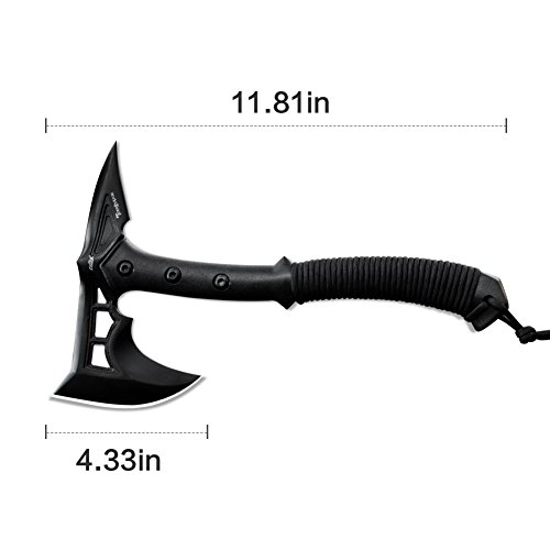 CIMA Tactical Tomahawk Tactical Survival Hunting Camping Axe, Nylon Glass Fiber Handle/Nylon Sheath (Black)