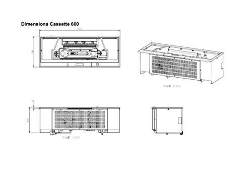 Faber 3D Cassette Opti Myst 600750022341963cm – Accesorio para chimenea de vapor de agua