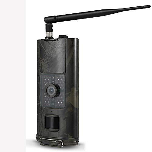 2G Wildkamera Fotofalle,GSM MMS Bewegungsmelder Nachtsicht Infrarot 1080P 16MP Jagdkamera,Handyübertragung Beutekameras,Mit 2,0LCD-Display IP65 Wasserdichte Überwachungskamera Mit 16G Speicherkarte