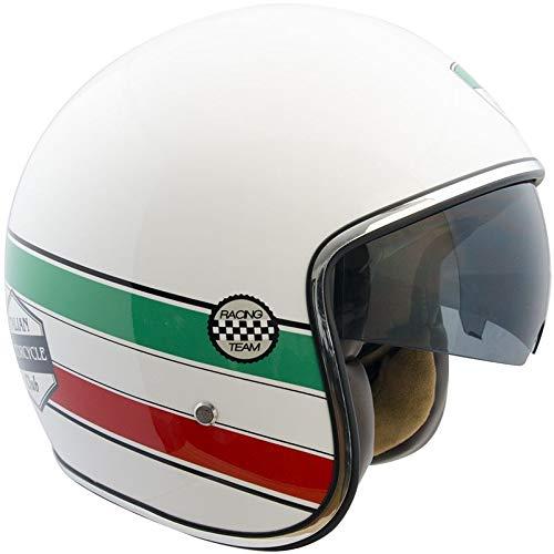 CGM Jet-helm voor scooters, uniseks, volwassenen, XL (61cm) wit