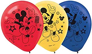 Amscan Mickey on The Go Latex Balloons, Assorted, 6 Pieces