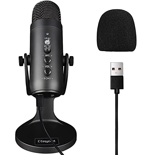 USB Microphone for PC/Mac with Noise Cancelling, Instant Mute, Mic...