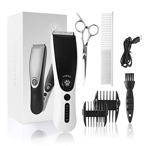 ZENIJUST Recargable eléctrico Pet Clipper Kit inalámbrico de Pelo para Mascotas Trimmer Kit de bajo Ruido Cat Hair Shaver...