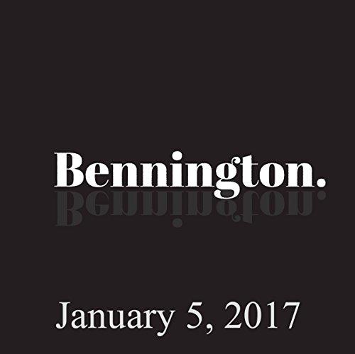 Bennington, January 5, 2017 audiobook cover art