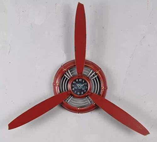 nouler Vintage Viento Industrial Reloj de Pared Hélice Decoración Pared Colgante Colgante...
