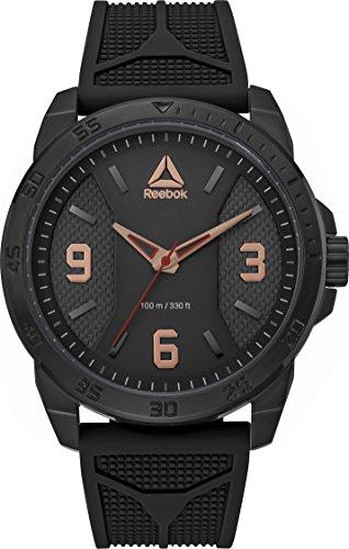 Reebok Herren Analog Quarz Uhr mit Silikon Armband RD-CAX-G2-SBIB-B3