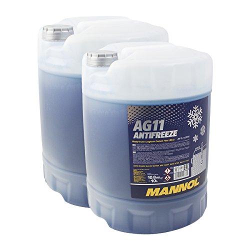 2X MANNOL MN4011-10 Longterm Antifreeze AG11-40°C Kühlerfrostschutz 10L